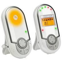 """Motorola MBP 16 - Baby monitor audio digitale con schermo LCD da 1.5"""", modo eco e luce notturna, bianco"""