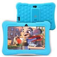 Dragon Touch Tablet per Bambini,7 Pollici,8G-32 GB,Controllo per Genitori,Touch Screen,2xTelecamere, Supporto di Gioco 3D, App Cartone Libro Musica per Bambini, Android con Custodia Regolabile (Blu)