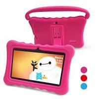Tablet Per Bambini Pad Per Bambini - Tablet per Bambini Yue Ying da 7 pollici con Sistema Operativo Google Android 6.0 e Custodia in Silicone,app iWavaHome e AR Zoo già installate, Schermo Dis (rosa)