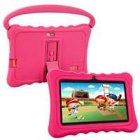 Tablet Per Bambini Pad Per Bambini,Tablet per Bambini DIANJIE da 7 pollici con Sistema Operativo Google Android 5.1 e Custodia in Silicone,8GB ROM,1GB RAM,Wi-Fi,Bluetooth (Pink)