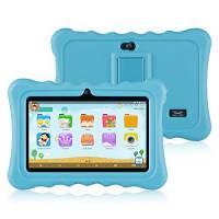 """Ainol Q88 Tablet per Bambini,Android 7.1,RAM 1GB+ROM 16GB,Schermo 7""""IPS,Risoluzione 1024*600 Pixel,Disponibile con iWawa For Kids,Custodia in Silicone Antiurto,Colore Azzurro"""