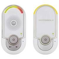 "Motorola MBP 8 - Baby monitor audio digitale ""plug-n-go"" con modo eco e luce notturna, Tecnologia DECT, bianco"