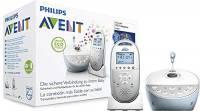 Philips Avent SCD580/00 Baby Monitor con Tecnologia DECT, Elimina Interferenze Audio, Interfono, Luce Notturna Stellata