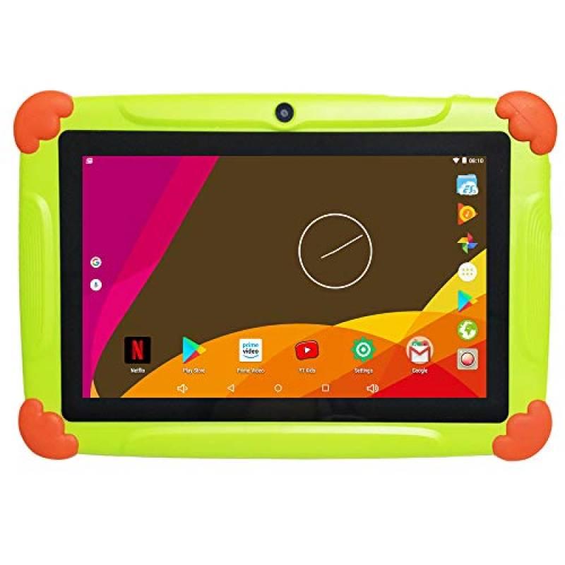 Tablet per Bambini 7 Pollici Con WiFi 2GB RAM 32GB ROM - Android 6.0 Quad Core - Supporto Youtube Netflix Google Play 1 a 12 Anni Educativo - Verde