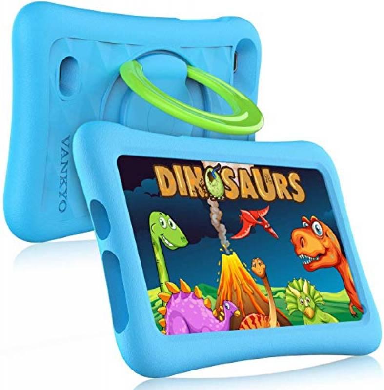 "VANKYO MatrixPad Z1 Tablet per Bambini 7"" 32GB ROM, Android 8.1 Oreo IPS HD Display WiFi Bluetooth Kidoz Preinstallato con Kid-Proof Custodia, Blu"