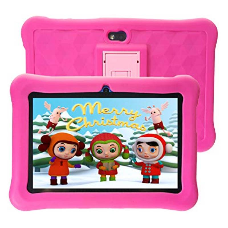 Tablet per Bambini 7'' 32 GB ROM Android con WiFi HD IPS Display e Google Play - Rosa