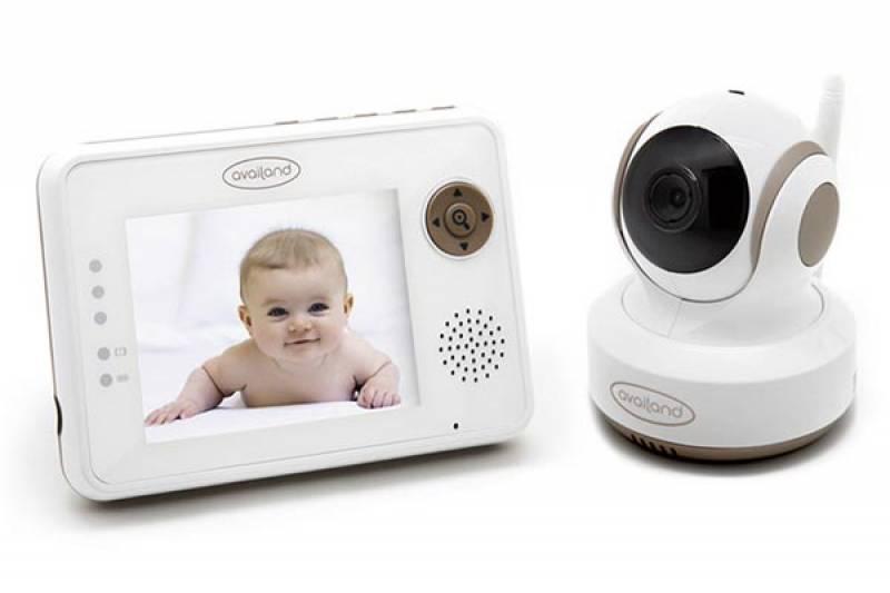 Availand Follow Baby - Baby monitor con telecamera motorizzata: segue automaticamente i movimenti del bebè