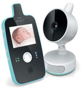 Philips Avent SCD603/00 Baby Monitor con Video Digitale, Nero/Bianco