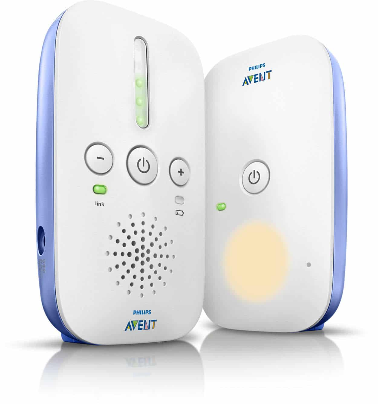 Philips Avent Salute e Controllo SCD501/00 Baby Monitor con Tecnologia DECT Elimina Interferenze Audio, Portata 300 m, Luce Notturna Rilassante