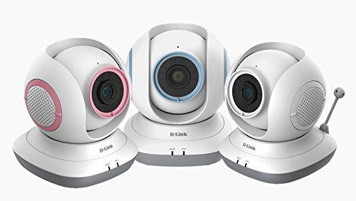 D-Link DCS-855L EyeOn Baby Monitor, Risoluzione HD, Rotazione a 360° Motorizzata, Slot per MicroSD, Sensore di Temperatura, Colori Assortiti